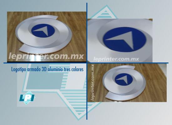 Logotipo-armado-3D-aluminio-tres-colores